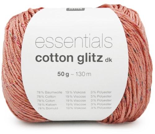 Rico Essentials Cotton Glitz DK 08 Dusky Pink