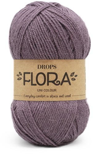Drops Flora Uni Colour 09 Methyst