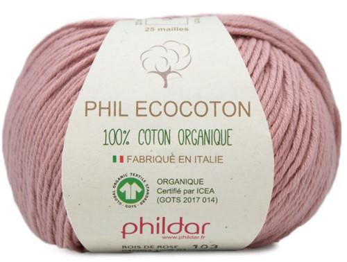 Phildar Phil Ecocoton 1005 Rose