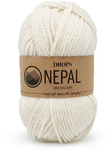 Drops Nepal Uni Colour 100 Naturel