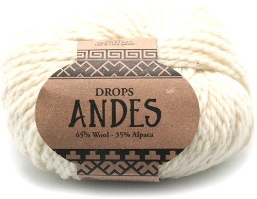 Drops Andes Uni Colour 100 Naturel