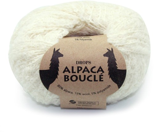 Drops Alpaca Bouclé Uni Colour 100 Naturel