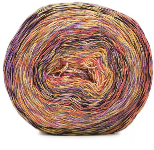Katia Funny Rainbow 101 Orange / Rust / Lilac