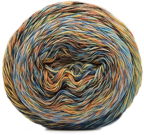 Katia Funny Rainbow 102 Water blue / Beige / Yellow / Orange