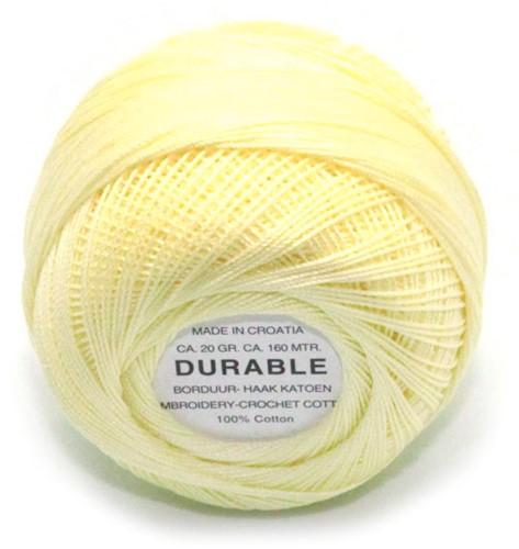 Durable Borduur- en haakkatoen 1023 Light Yellow