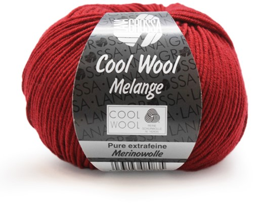 Lana Grossa Cool Wool Melange 102 Red Mottled