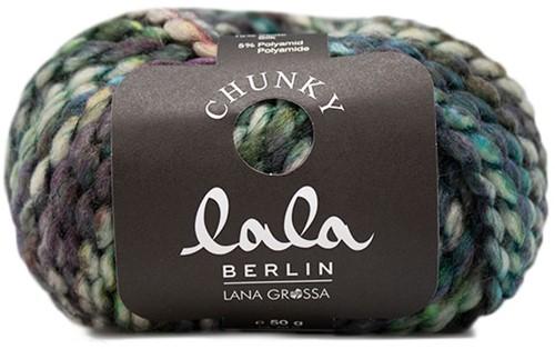 Lana Grossa Lala Berlin Chunky Print 102 Violet / Brown / Aubergine / Petrol / Olive