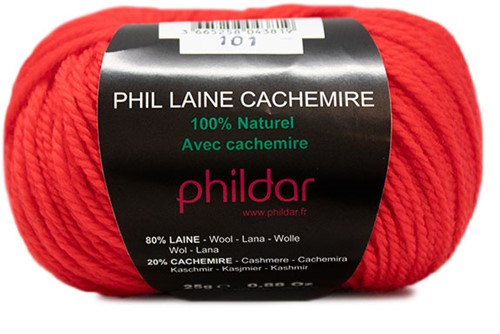 Phildar Phil Laine Cachemire 1038 Vermillon