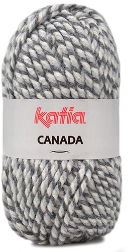 Katia Canada 104 Off white - Dark grey - Grey