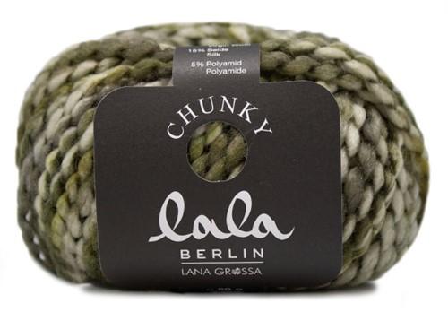 Lana Grossa Lala Berlin Chunky Print 104 Olive / Yellow-Green / Ecru / Dark Grey