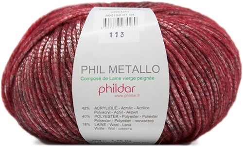 Phildar Phil Metallo 1038 Grenat