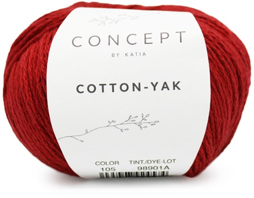 Katia Cotton-Yak 105 Red
