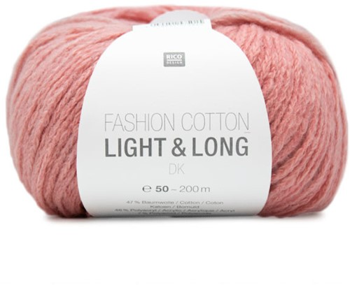 Fashion Cotton Light & Long Omslagdoek Breipakket 1 Rosa Mix