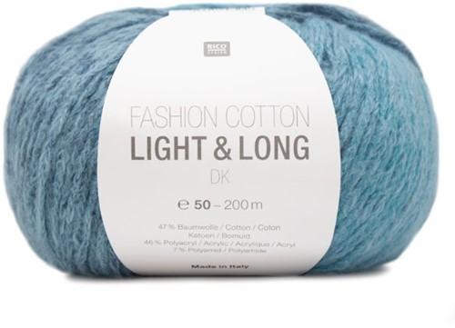 Fashion Cotton Light & Long Omslagdoek Breipakket 3 Aqua