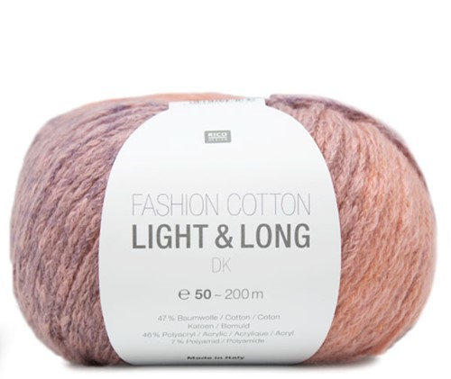 Fashion Cotton Light & Long Vest Breipakket 2 36/40 Lila Mix