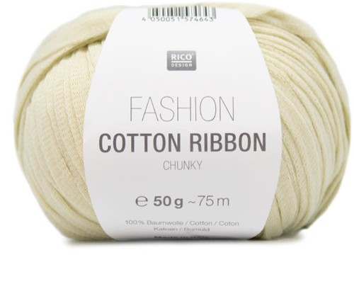 Fashion Cotton Ribbon Chunky Ballon Trui Breipakket 1 42/44 Pastel Yellow