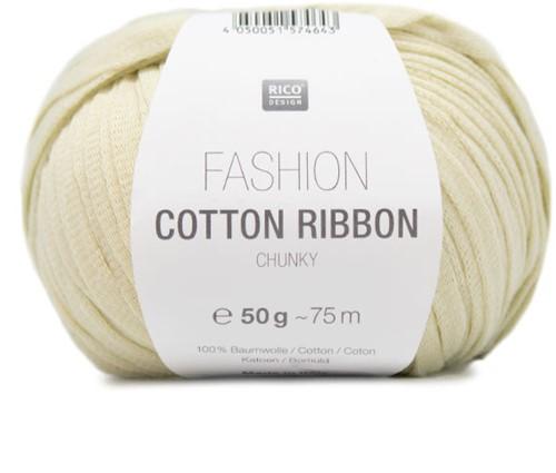Fashion Cotton Ribbon Chunky Ballon Trui Breipakket 1 36/40 Pastel Yellow