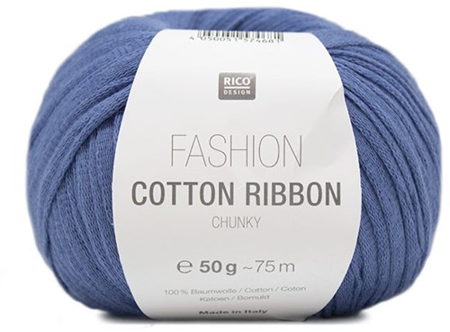Fashion Cotton Ribbon Chunky Ballon Trui Breipakket 2 42/44 Blue