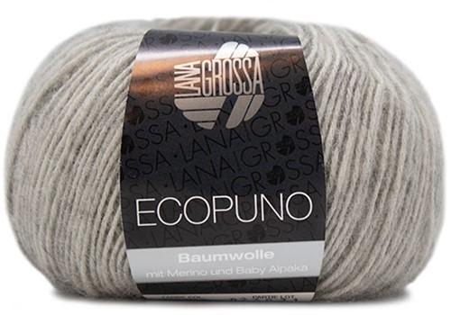 Ecopuno Sjaal Haakpakket 5 Light Grey