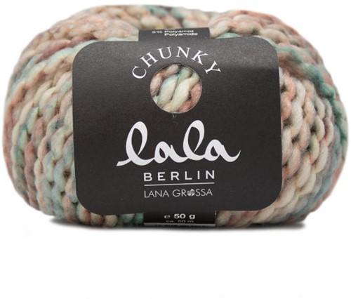 Lana Grossa Lala Berlin Chunky Print 106 Green-Grey / Pastel Orange