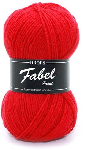 Drops Fabel Uni Colour 106 Red