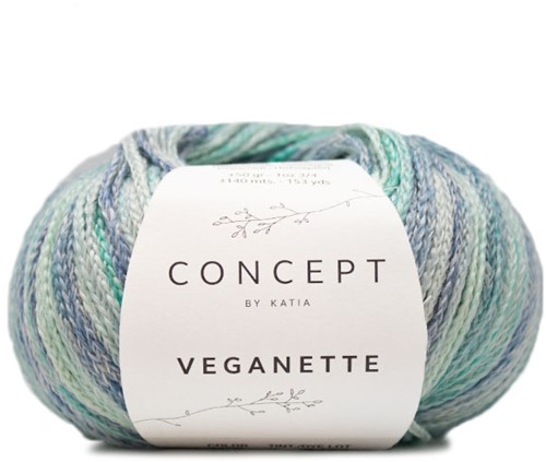 Katia Veganette 107 Mint Green / Lila / Pearl Nut / Light Violet