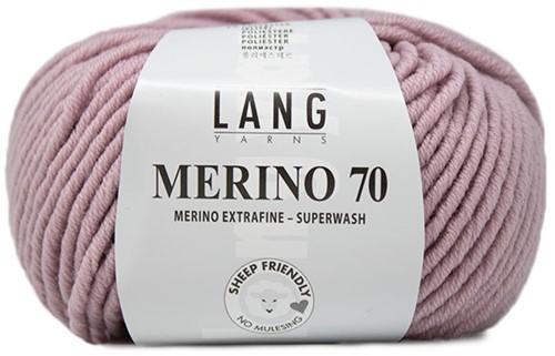 Lang Yarns Merino 70 109 Rose