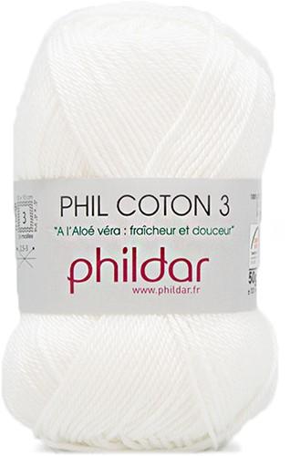 Phildar Phil Coton 3 1225 Blanc