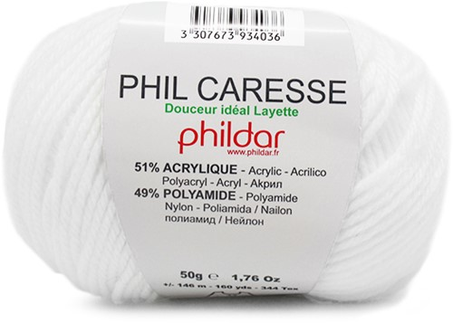 Phildar Phil Caresse 1225 Blanc