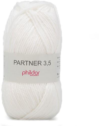 Phildar Partner 3.5 1225 Blanc