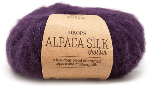 Drops Brushed Alpaca Silk Uni Colour 10 Violet