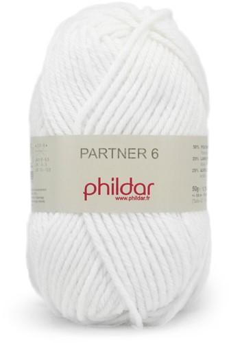 Phildar Partner 6 1225 Blanc