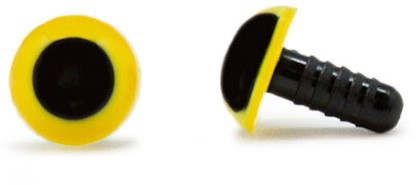Veiligheidsogen Geel 10mm per paar