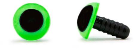 Veiligheidsogen Groen 10mm per paar