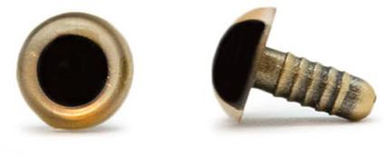Veiligheidsogen Goud 10mm per paar