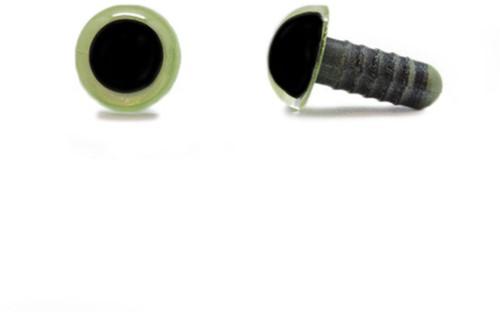 Veiligheidsogen Olijfgroen 10mm per paar