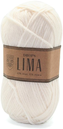 Drops Lima Uni Colour 1101 Wit