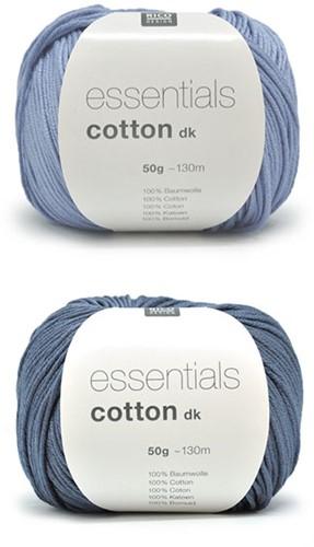 Essentials Cotton Vrolijke Zomertop Breipakket 2 Blue