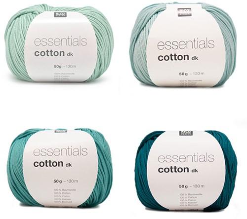Essentials Cotton Vrolijke Zomersjaal Breipakket 2 Green