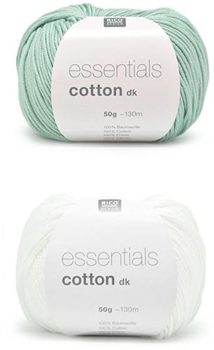 Essentials Cotton Strepen Tas Haakpakket 2 White / Green