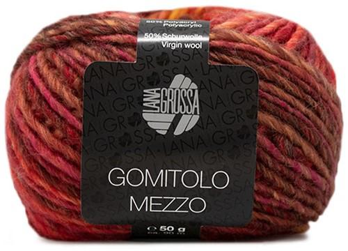 Lana Grossa Gomitolo Mezzo 117 Dark Red / Yellow / Orange / Pink / Olive / Red