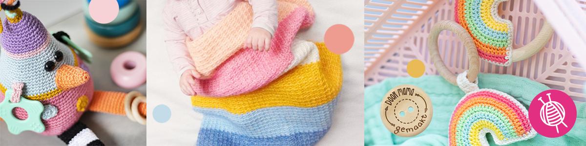 Geschikte materialen voor handwerken voor baby's