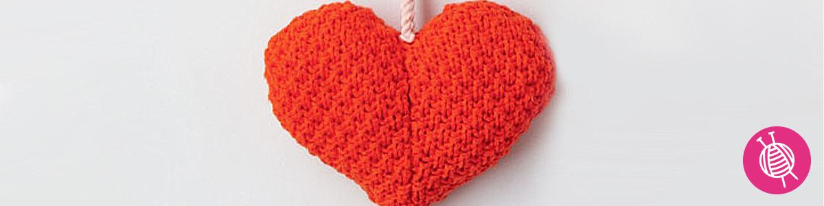 Hartje breien voor Valentijnsdag