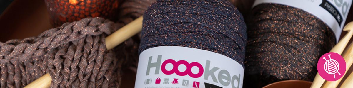 Hoooked RibbonXL Lurex - gratis haakpatroon koperkleurige clutch
