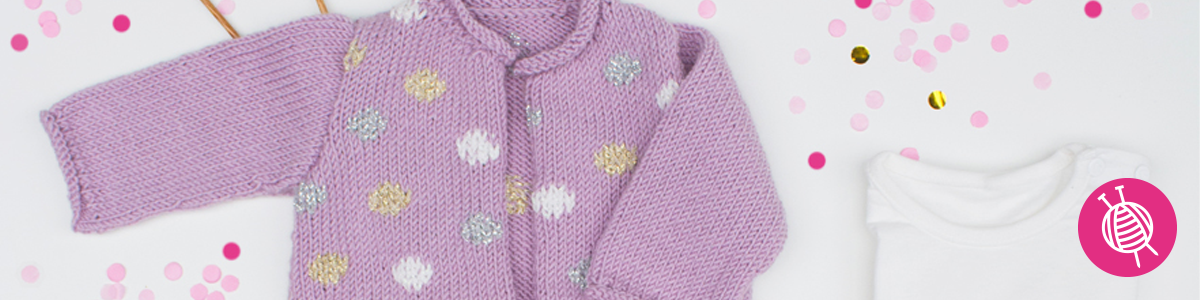 Baby vestje met stippen - gratis breipatroon