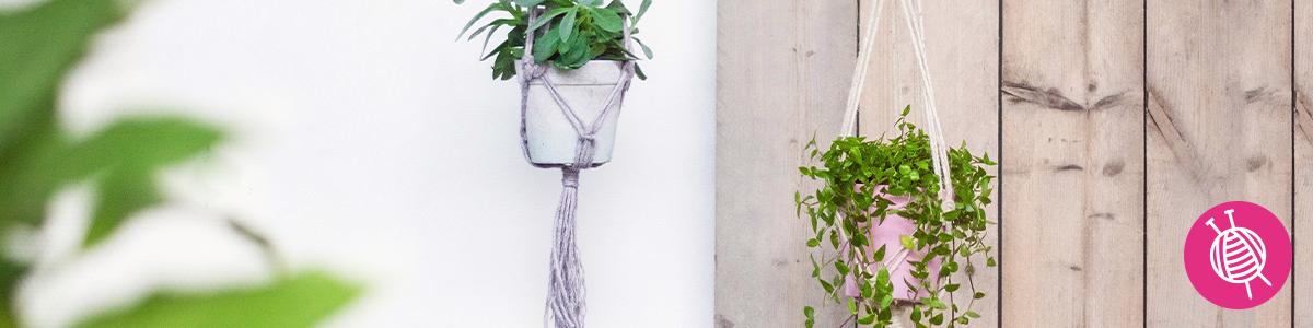 Macramé Plantenhanger maken - de trend van nu!