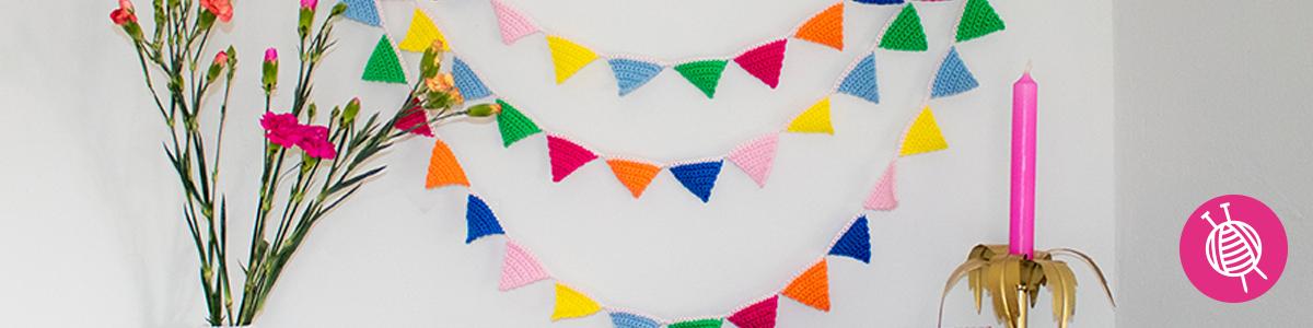 Mini vlaggenlijn – gratis haakpatroon