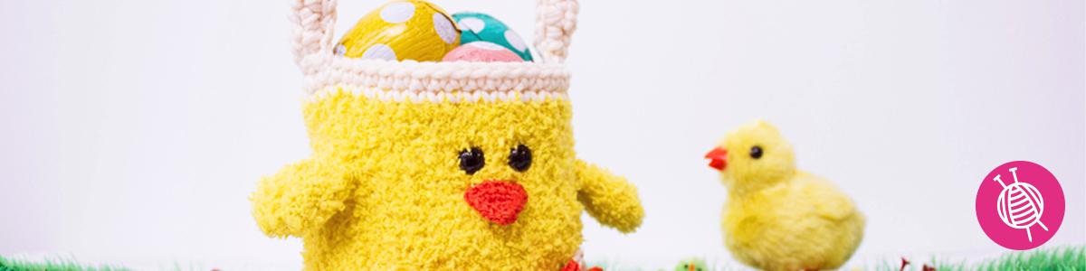 Gehaakt Kuiken Paasmandje - Gratis Haakpatronen voor Pasen!