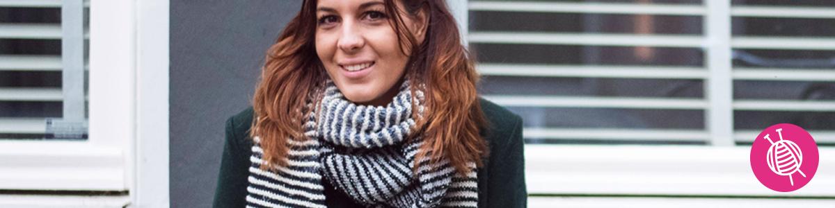 Shades of Merino Cotton Streepjes sjaal