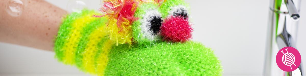 Handpop washand – haken met Rico Creative bubble